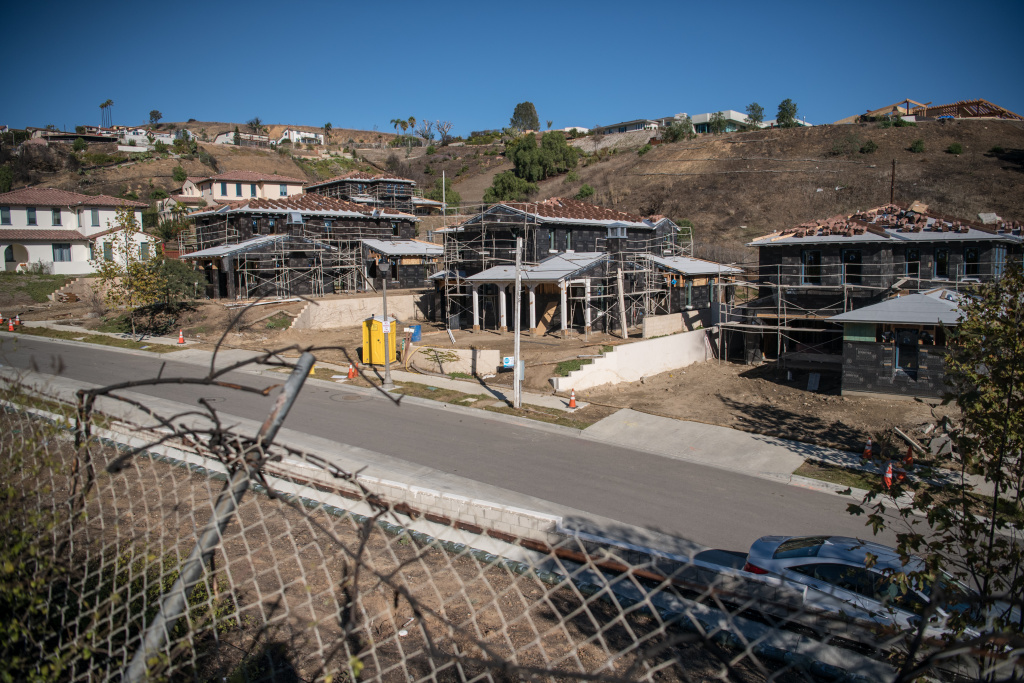 Residences of Andorra Lane in Ventura that survived the Thomas Fire and those being rebuilt after burning down, on Dec. 2, 2018.