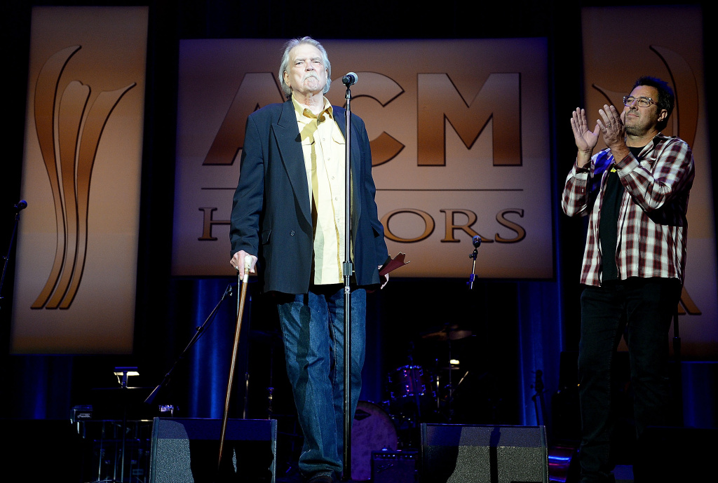 File: Guy Clark accepts the Poet's Award at the 7th Annual ACM Honors at the Ryman Auditorium on Sept. 10, 2013 in Nashville, Tennessee.