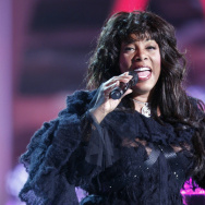 US singer Donna Summer performs on stage