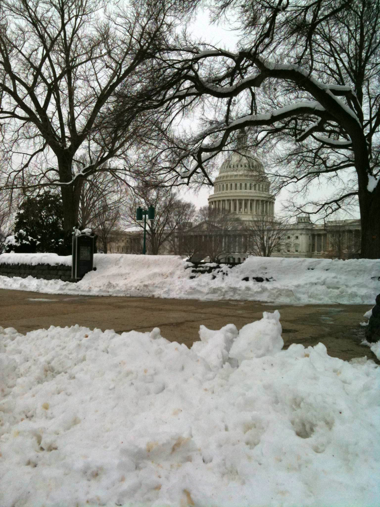 US Capital building in the snow on February 9, 2010.