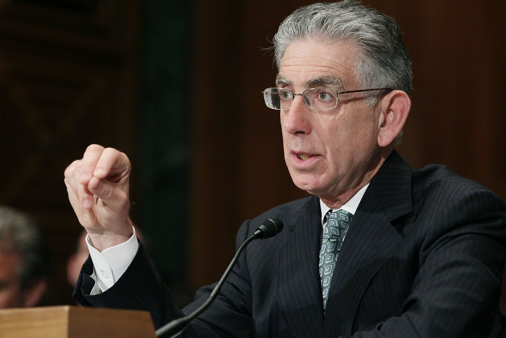 Phil Angelides, chairman of Financial Crisis Inquiry Commission, participates in a Senate Banking Committee hearing, May 10, 2011 in Washington, DC. The committee is hearing testimony on the final report of the Financial Crisis Inquiry Commission.