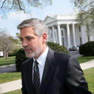 George Clooney Addresses The Media After Meeting President Obama