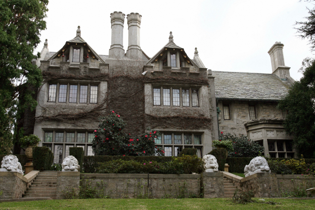 Playboy Magazine publisher Hugh Hefner's property, the Playboy Mansion.
