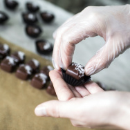 Founder of Marigold Sweets Vanessa Lavorato makes her most popular cannabis-infused chocolates, Fleur de Sel Caramels, in her home on Thursday morning, Dec. 22, 2016.