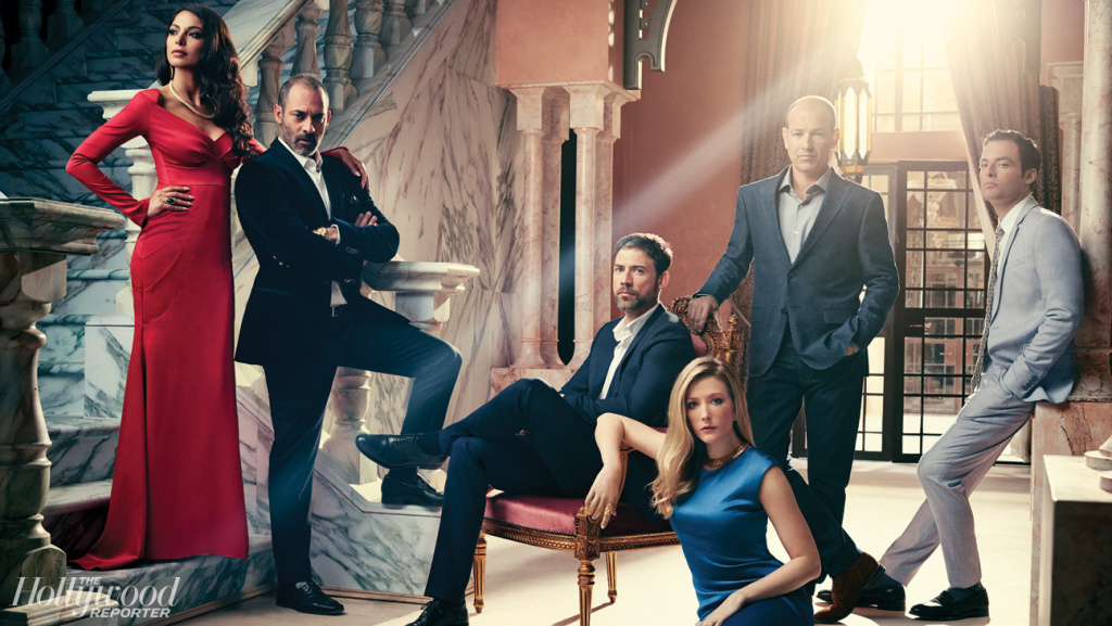 The cast of FX's 'Tyrant.' From left: Moran Atias, Ashraf Barhom, Adam Rayner, Jennifer Finnigan, Howard Gordon and Justin Kirk. The show premieres on June 24.
