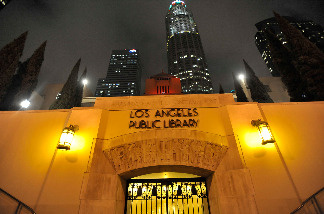 Los Angeles' Central Public Library is illuminated on the night of December 1, 2009 in downtown Los Angeles.