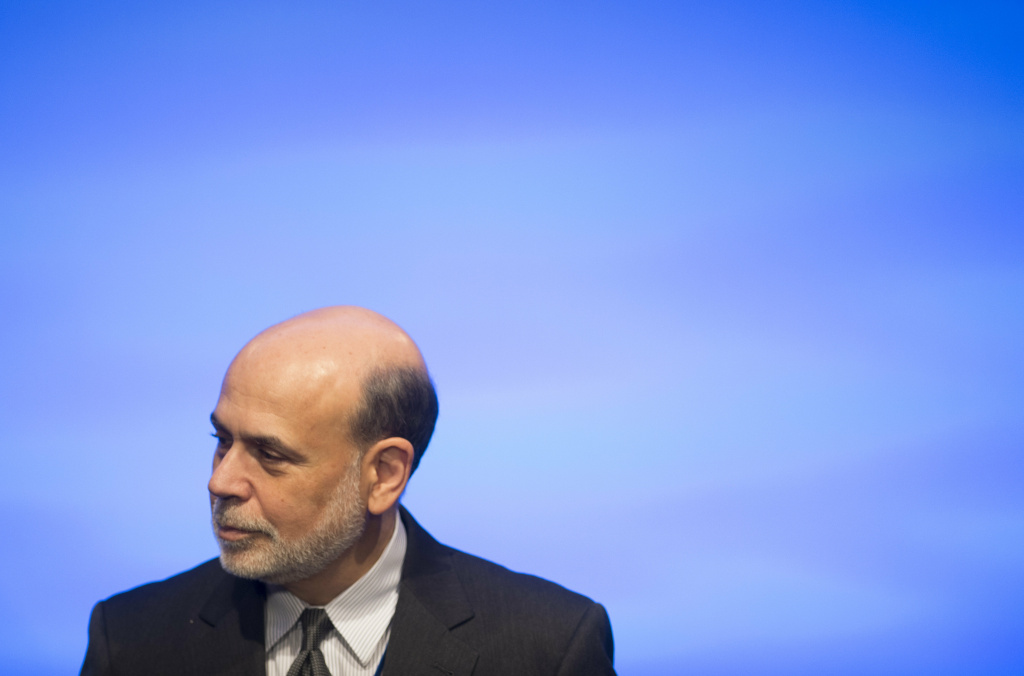 Federal Reserve Chairman Ben Bernanke attends the annual World Bank - International Monetary Fund (IMF) meetings in Washington, DC, October 11, 2013. Bernanke is slated to end eight years as Fed chairman in January.