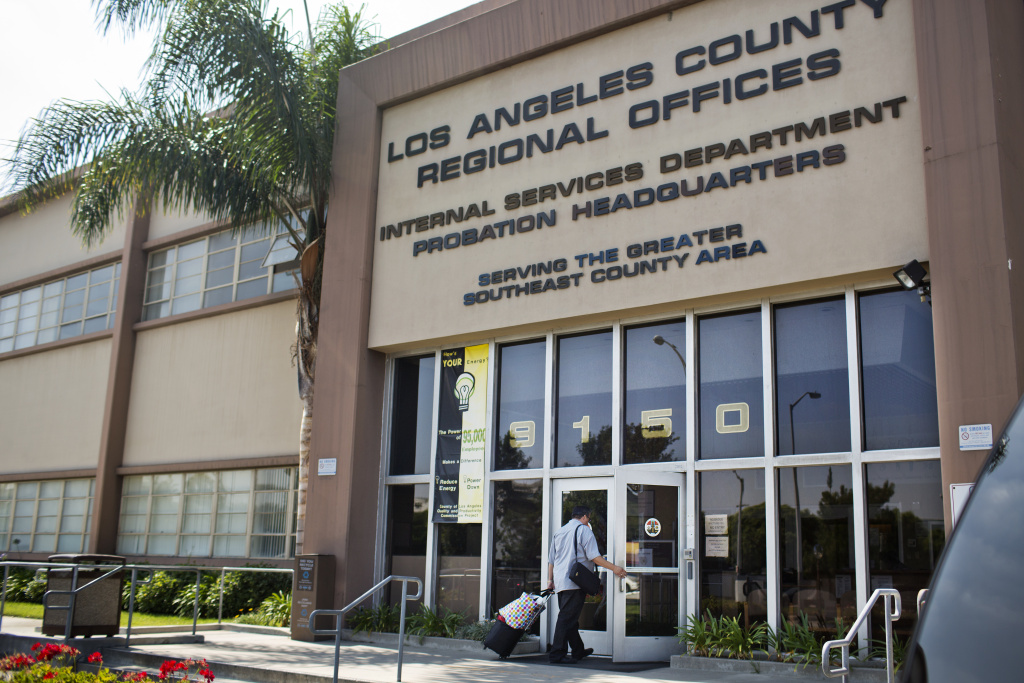 The Los Angeles County Probation Department's administrative offices in Downey.