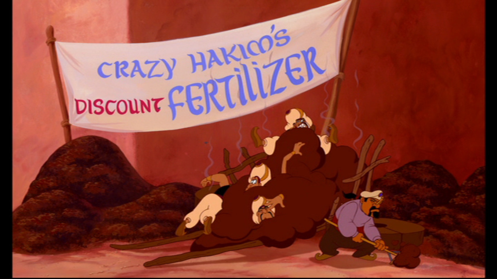 Disney animator Tom Sito was given the task of animating himself - as Crazy Hakim - in this scene from