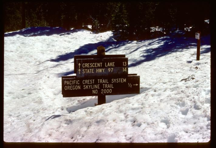 Teddi Boston poses near Lower Devil's Peak near Seiad Valley in 1976.