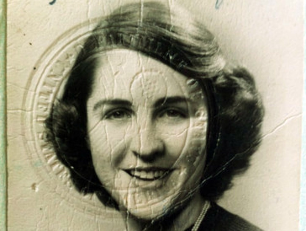 Betty Werther's passport photo from 60 years ago.