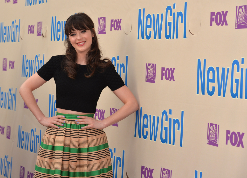 Actress Zooey Deschanel arrives to a screening and Q&A for Fox's