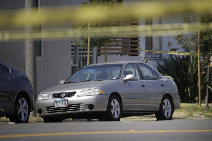 UCLA gunman Mainak Sarkar's vehicle is parked on the street, Friday, June 3, 2016, in Los Angeles. The former UCLA graduate student killed a woman in Minnesota before carrying two semi-automatic pistols and a grudge back to Los Angeles, where he fatally shot the young professor on Wednesday he once called a mentor and then killed himself.