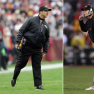 FILE: Brothers Jim & John Harbaugh To Face Each Other As Coaches In Super Bowl XLVII