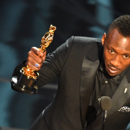 "US Actor Mahershala Ali delivers a speech on stage after he won the award for Best Supporting Actor in ""Moonlight"" at the 89th Oscars on February 26, 2017 in Hollywood, California. / AFP / Mark RALSTON"