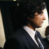 "Writer/director/producer M. Night Shyamalan attends the New York premiere of ""The Visit"" at Regal Cinemas Union Square on September 8, 2015 in New York City"