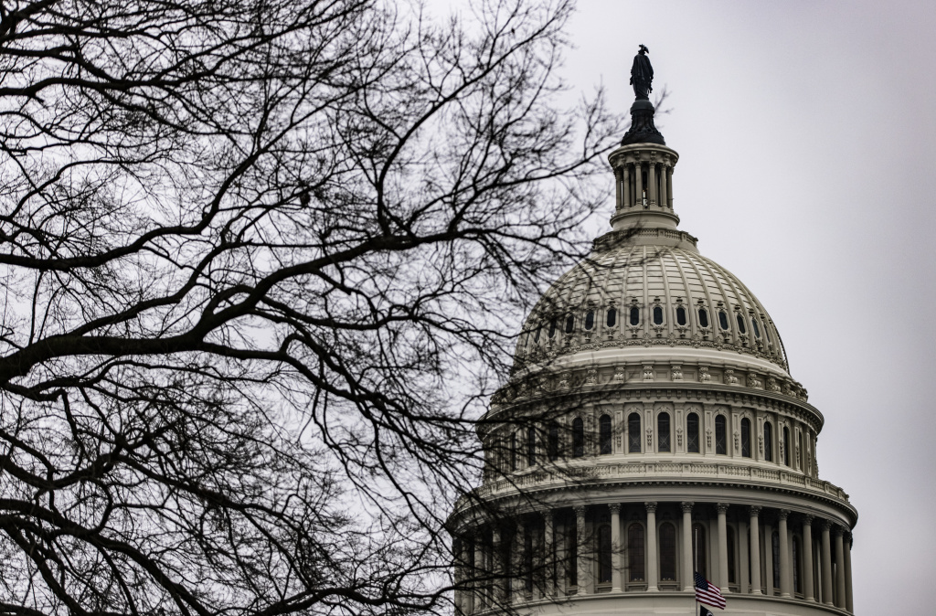 The U.S. Capitol on the third day of the second impeachment trial of former President Donald Trump. House impeachment managers argued that Trump is singularly to blame for the deadly insurrection on the Capitol on Jan. 6.