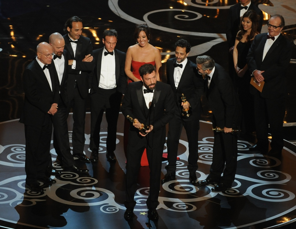 Argo director Ben Affleck accepts the Oscar for Best Movie onstage at the 85th Annual Academy Awards on February 24, 2013 in Hollywood, California.