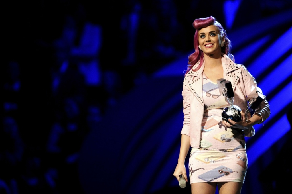 Katy Perry performs onstage during the MTV Europe Music Awards 2010 live show at at the Odyssey Arena on November 6, 2011 in Belfast, Northern Ireland.