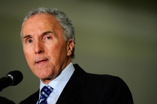 Los Angeles Dodgers owner Frank McCourt speaks during a Dodger Stadium news conference on April 8, 2011.