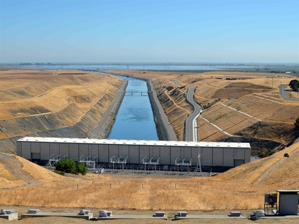 The Harvey O. Banks Pumping Plant near Tracy, Calif. in the Delta