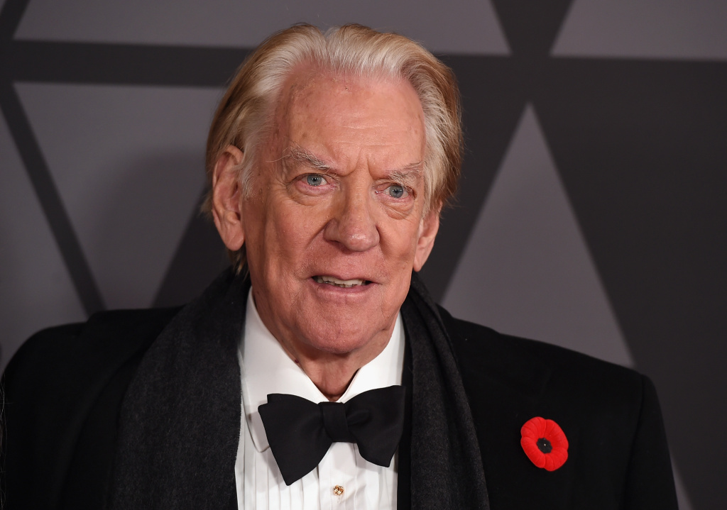 Honoree Donald Sutherland attends the Academy of Motion Picture Arts and Sciences' 9th Annual Governors Awards on November 11, 2017 in Hollywood, California.
