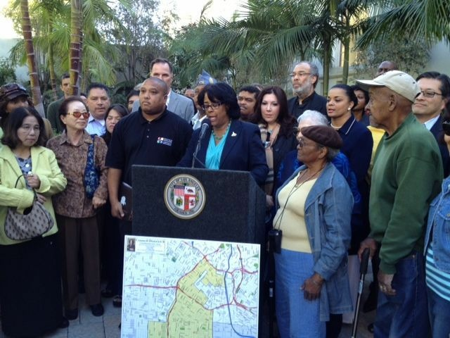 Councilwoman Jan Perry is among others who disapprove of the new redistricting map.