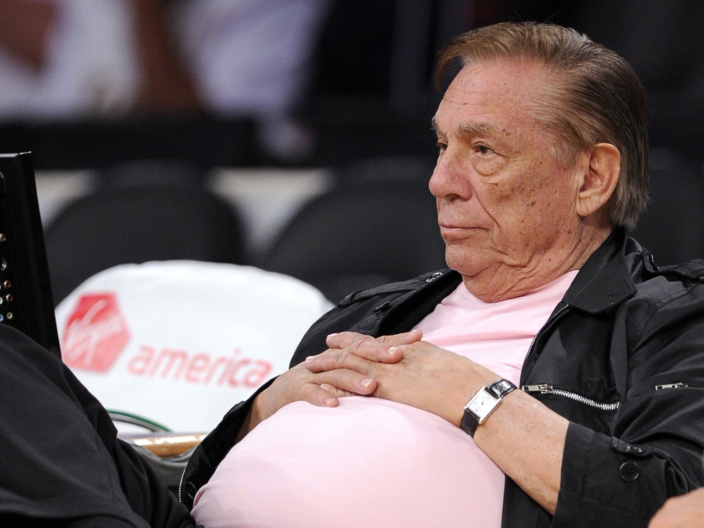 Los Angeles Clippers team owner Donald Sterling watches his team play in Los Angeles Oct. 17, 2010.