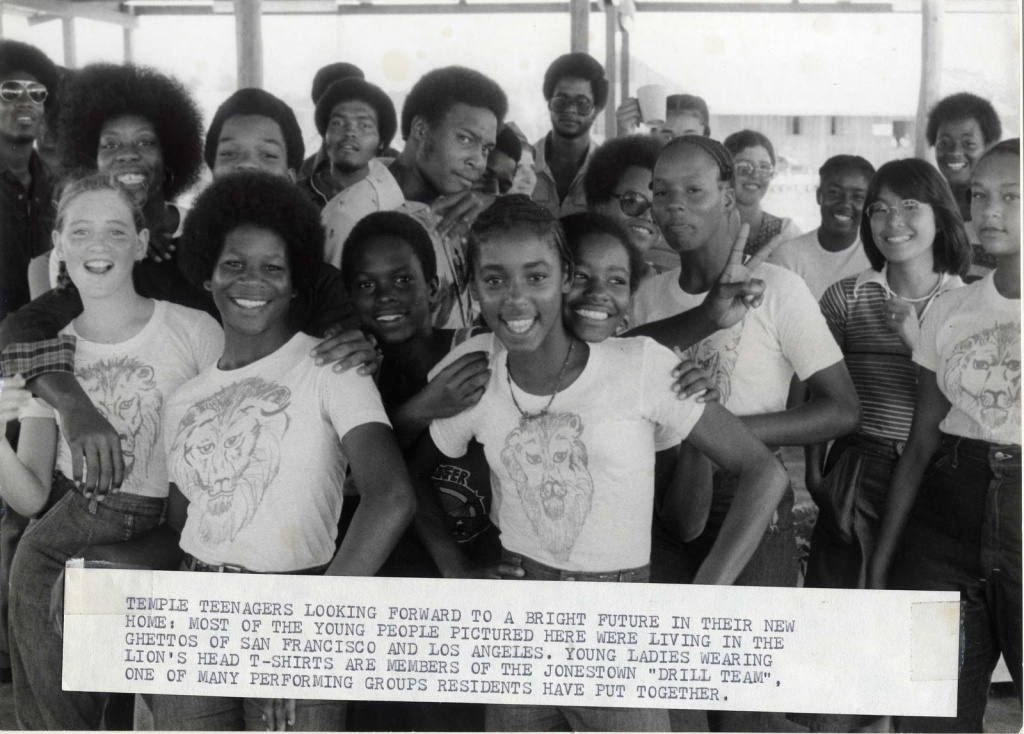 Members of the Peoples Temple at the Jonestown settlement in Guyana.