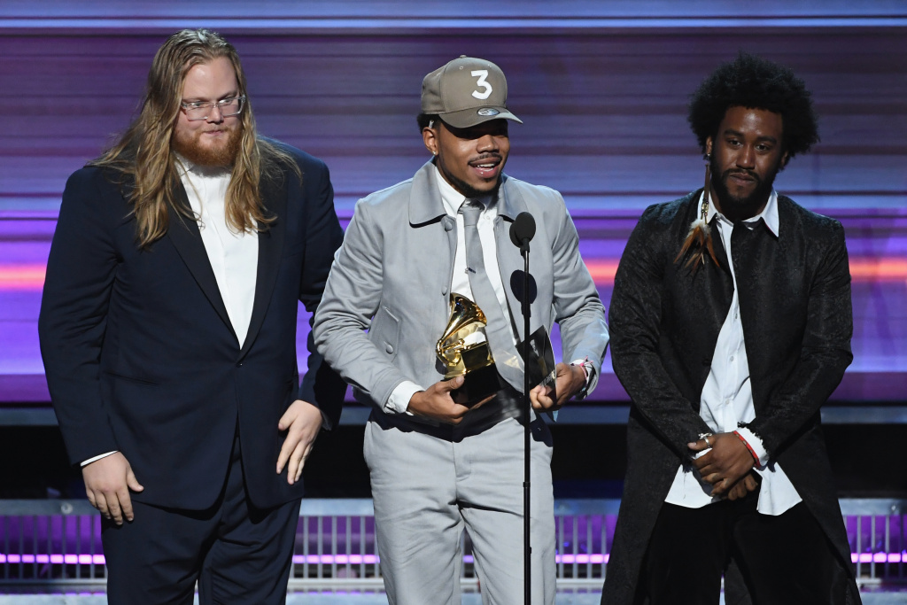 Chance the Rapper accepts the Best Rap Album award for