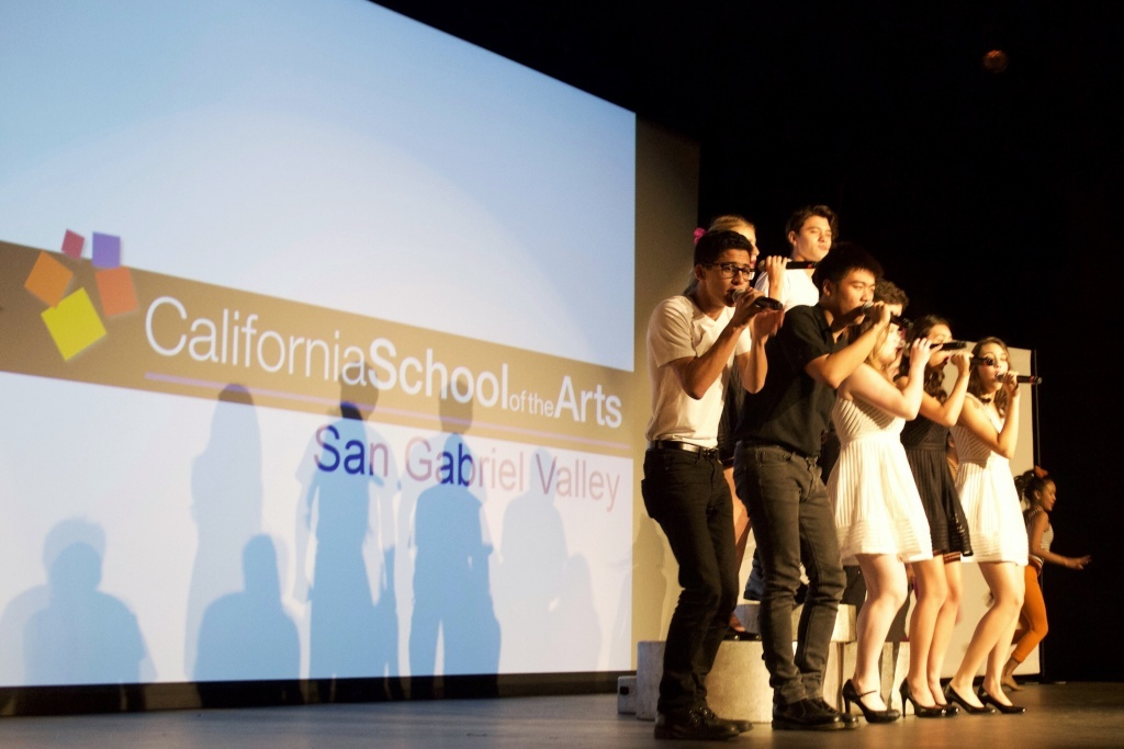 Montage, the premier performance group from the Orange County School of the Arts, wowed the audience at a December preview day for the new Duarte school.