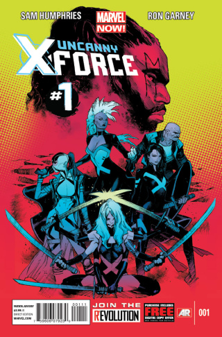 Uncanny X-Force #1, one of the few superhero comics set in Los Angeles, by writer Sam Humphries and artist Ron Garney.