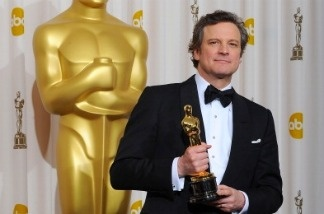 Actor Colin Firth holds the award for Best Actor in a Motion Picture for his role in 'The King's Speech' at the 83rd Annual Academy Awards on February 27, 2011 in Hollywood, California