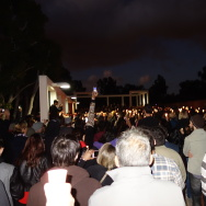 Hundreds of Cal State University Long Beach students, faculty and others gathered with candles at a vigil Nov. 15, 2015 for Nohemi Gonzalez. She was the lone American so far known to be killed in the Paris terror attacks.