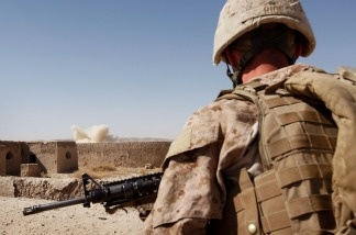 US Marines Patrol Remote Part Of Helmand Province Near Kajaki Dam on October, 17 2010.