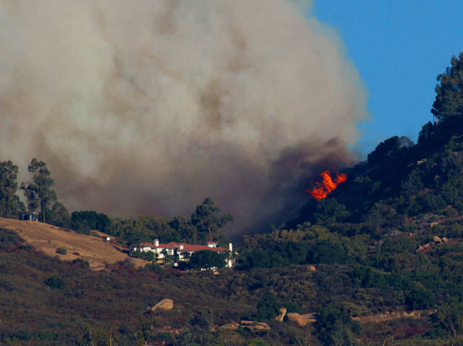 A Santa Barbara fire, Wednesday, Oct. 17, 2012.