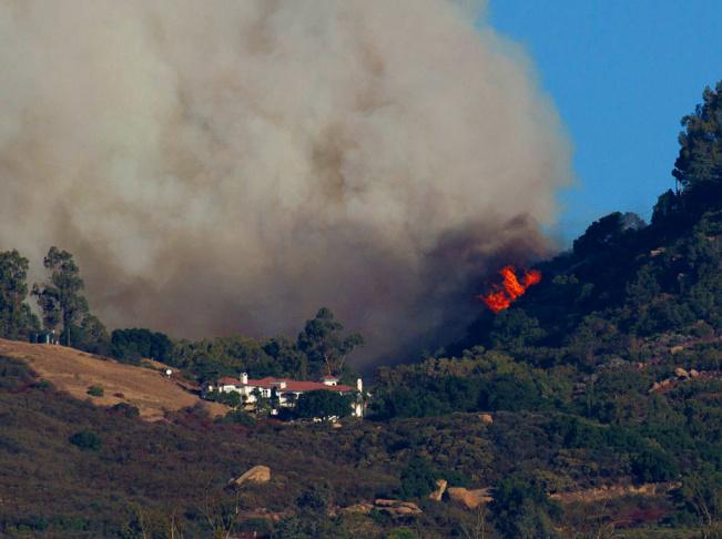 A Santa Barbara fire, Wednesday, Oct. 17, 2012.