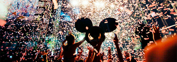 File photo: Friday of Electric Daisy Carnival 2010, as deadmau5 was playing.
