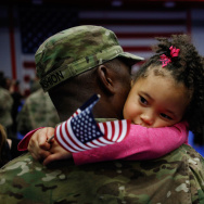 Soliders From Army's 3rd Brigade Return Home From Afghanistan To Fort Knox