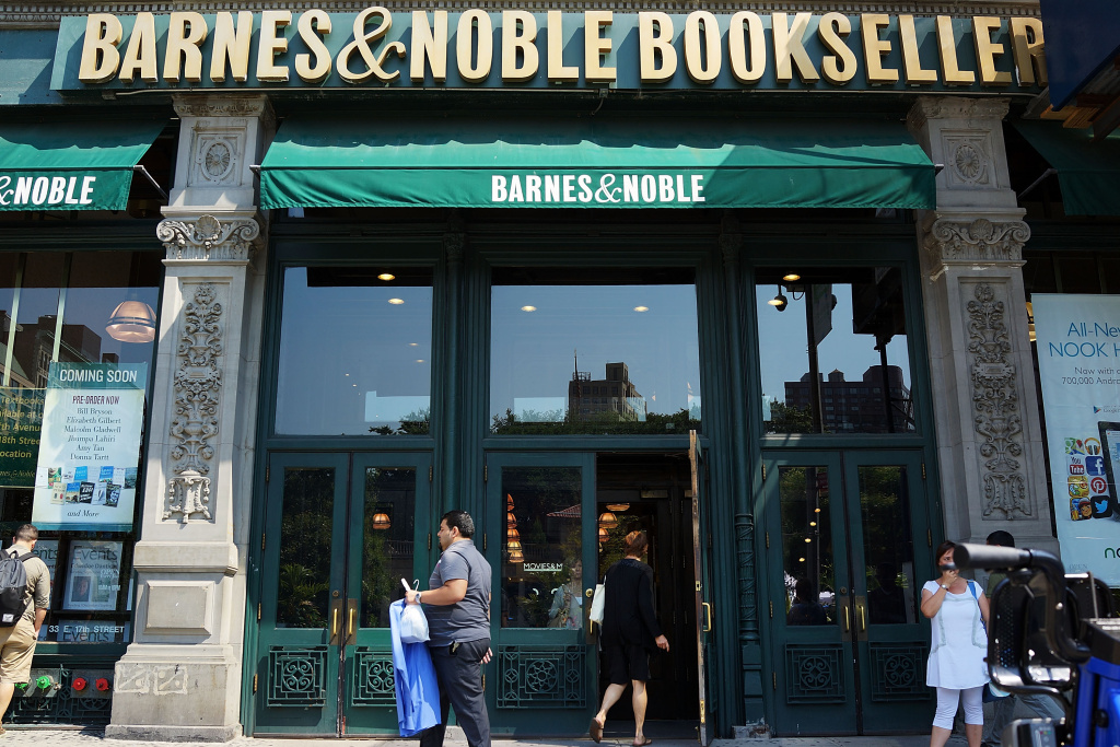 File: A Barnes & Noble bookstore is viewed on Aug. 20, 2013 in New York City.