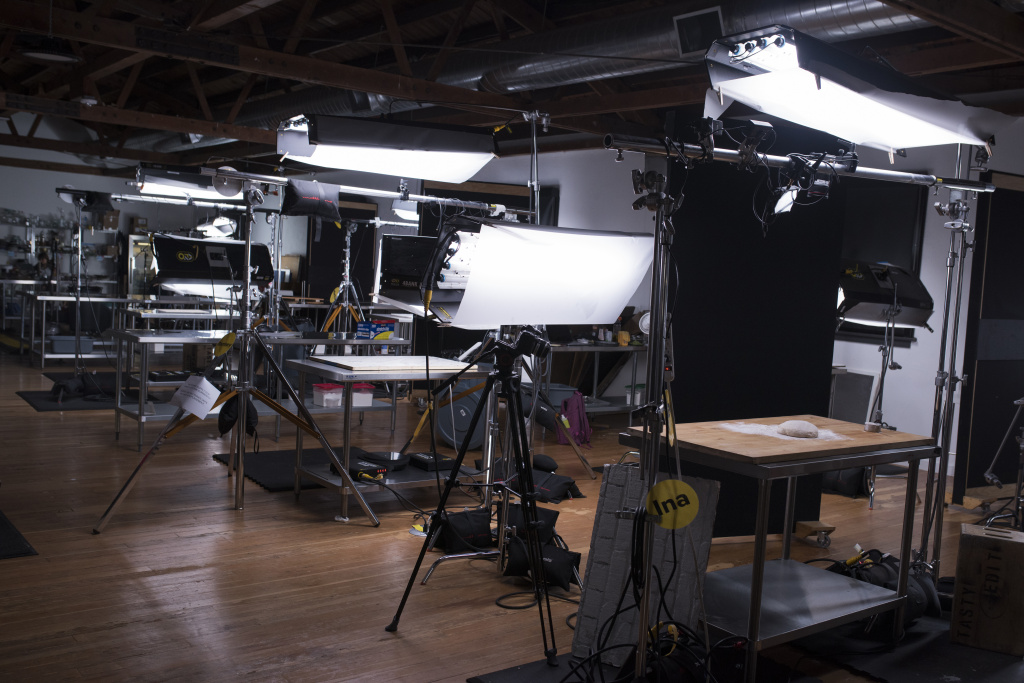 Shooting stations at BuzzFeed's Tasty headquarters in Hollywood, California.