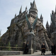 An exterior view of Hogwarts is seen during the 'Wizarding World of Harry Potter Opening' press preview at Universal Studios Hollywood in Studio City, California, on April 6, 2016.  / AFP / VALERIE MACON        (Photo credit should read VALERIE MACON/AFP/Getty Images)