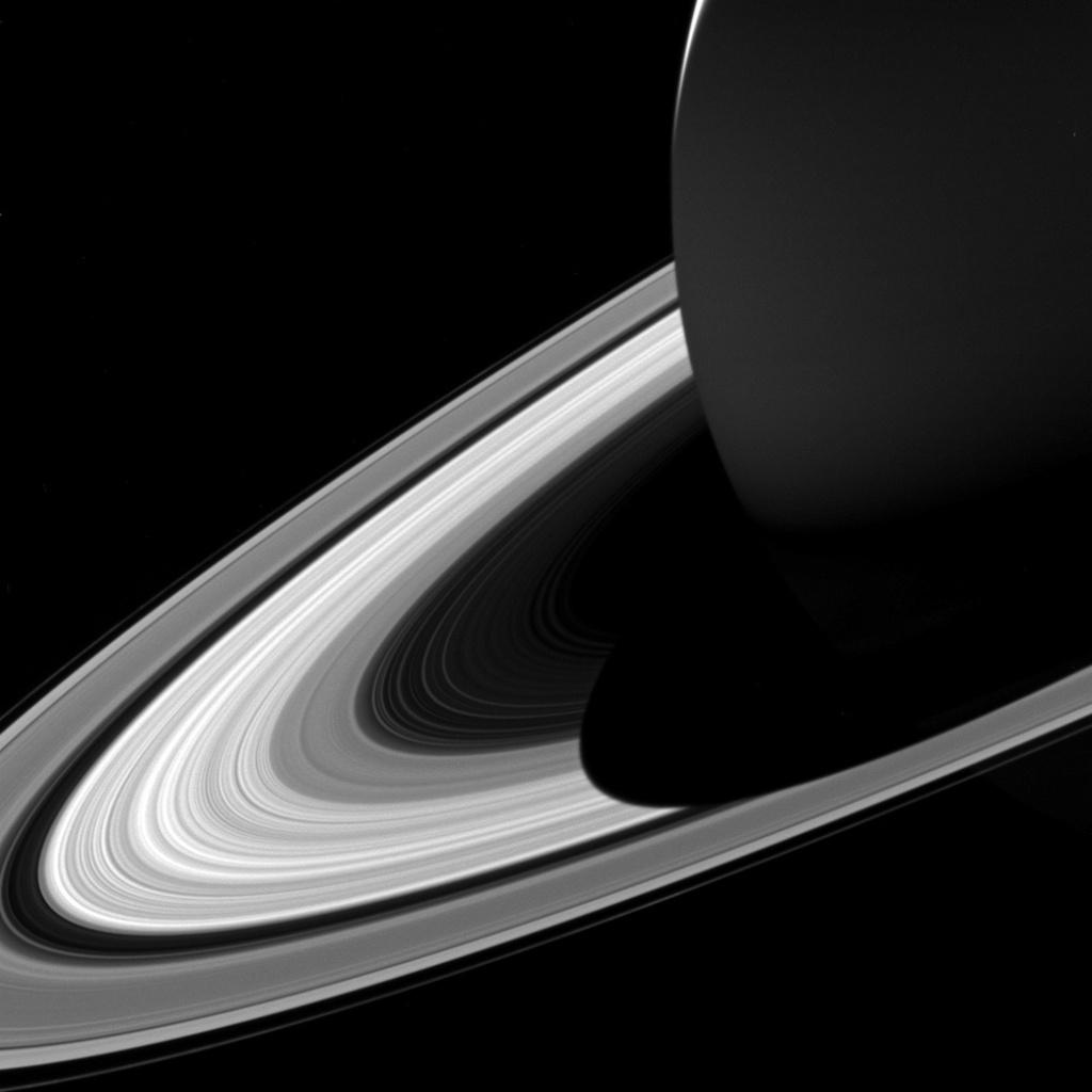 Saturn's rings.