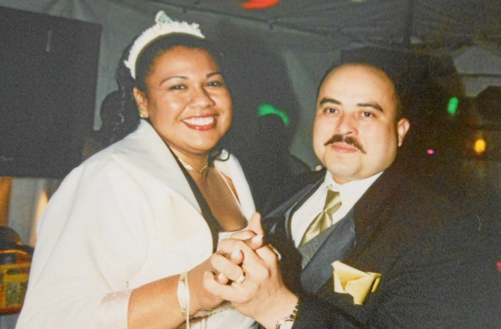 TSA agent Gerardo Hernandez, killed Friday, Nov. 1, 2013 in a shooting at LAX. He is seen here dancing with his sister-in-law Xiumara Hernandez at her wedding.
