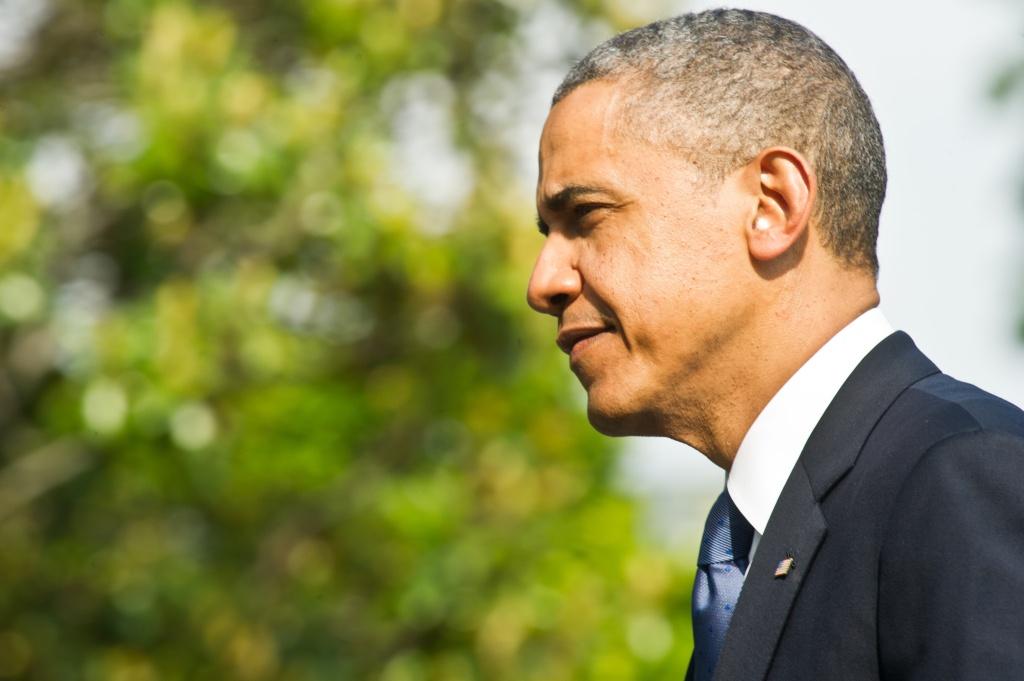 US President Barack Obama returns to the White House in Washington on May 19, 2013 from Atlanta.