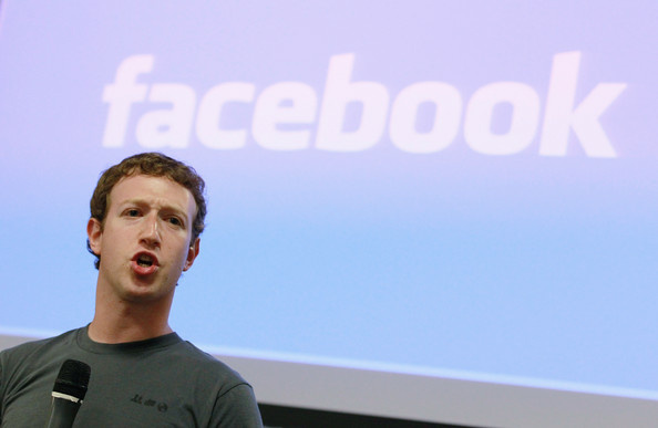 Facebook founder and CEO Mark Zuckerberg speaks during a news conference at Facebook headquarters. The company announced third quarter 2012 earnings today.