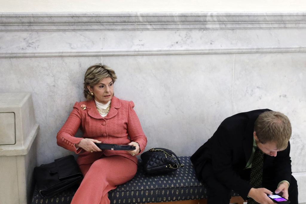 Attorney Gloria Allred waits to enter the courtroom during Bill Cosby's sexual assault trial on June 9, 2017  in Norristown, Pennsylvania.