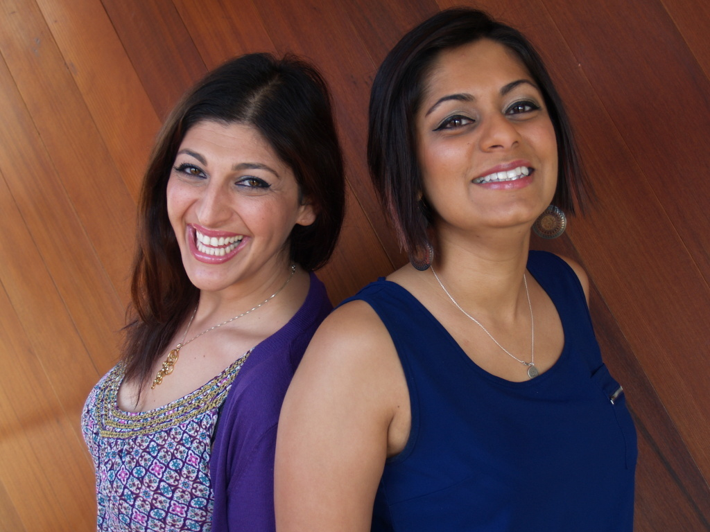 Zahra Noorbakhsh (left) and Taz Ahmed are both contributors to the book
