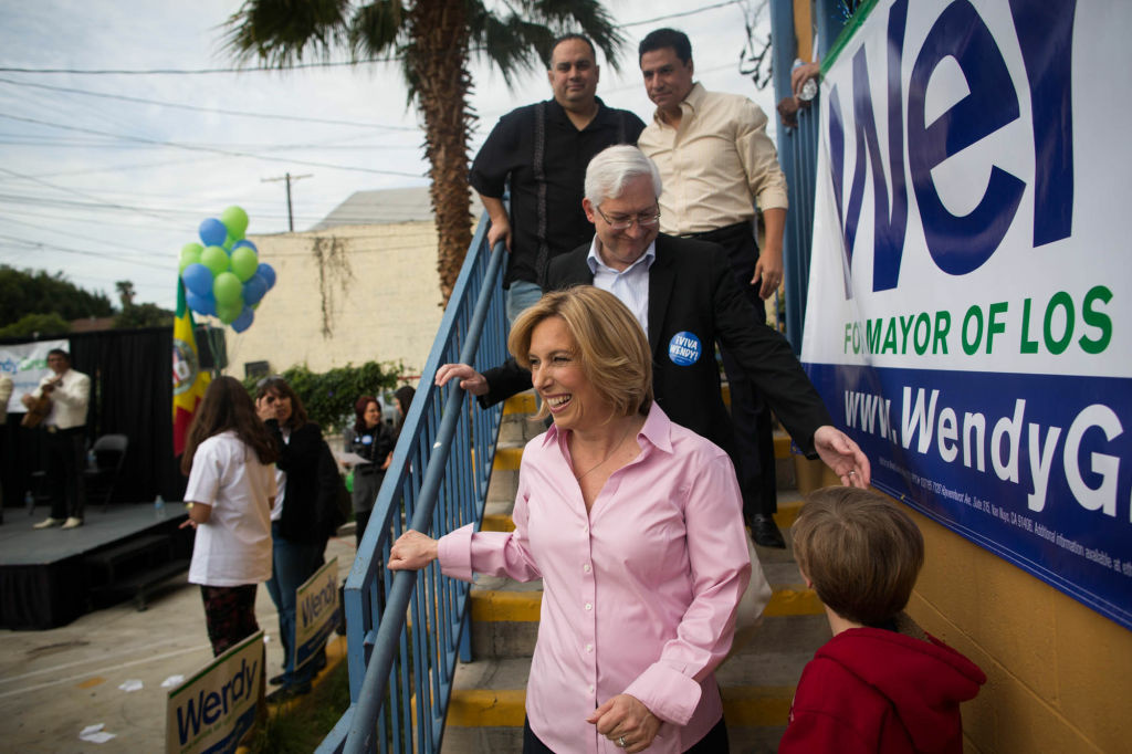 A poll from Survey USA found Wendy Greuel leading in the mayor's race by three points.