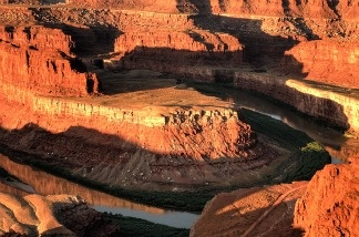 Horseshoe bend of the Colorado River in Arizona.